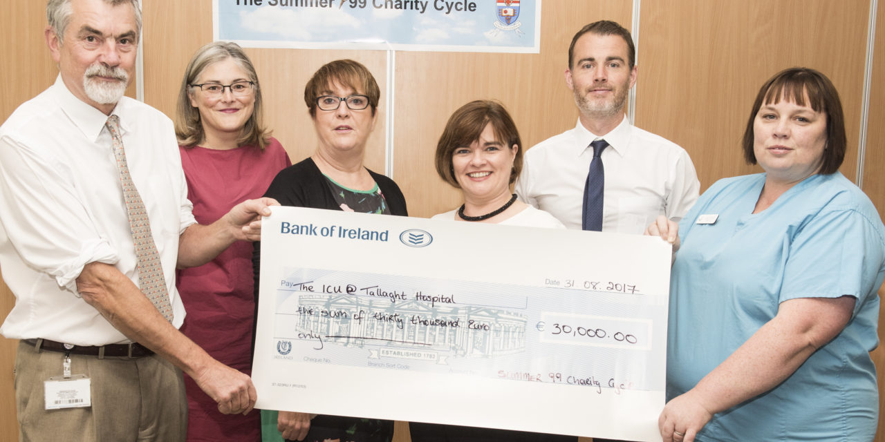 Tallaght Hospital raises €30000 from Charity Cycle