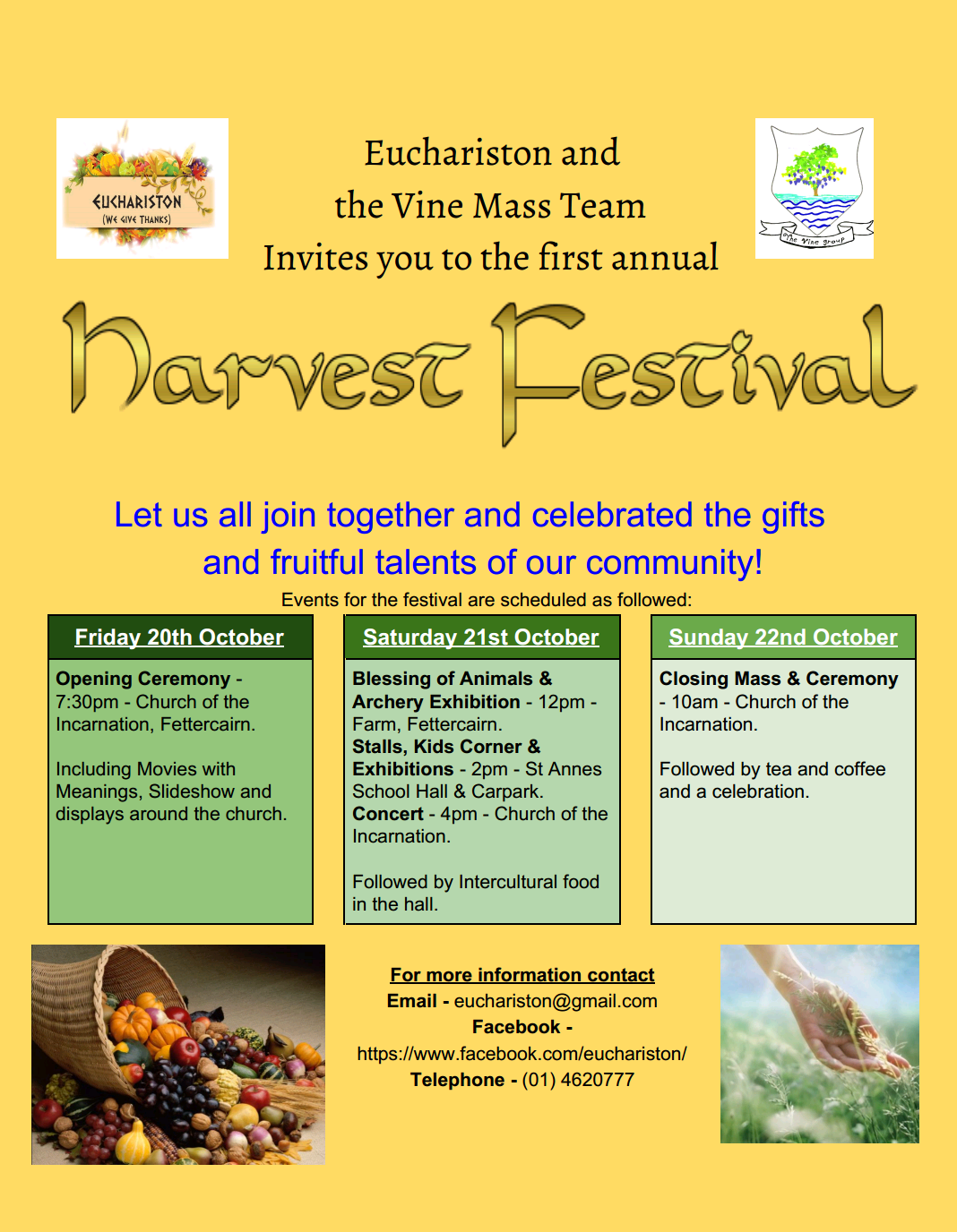 Harvest Festival Tallaght Oct 17