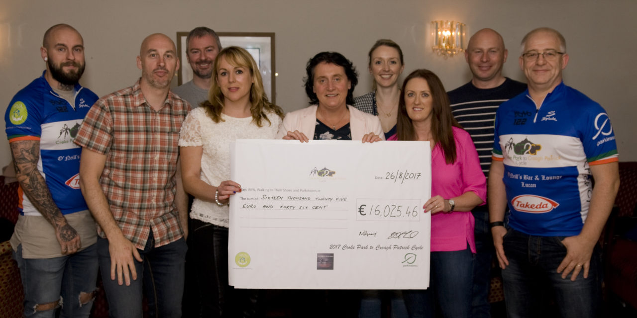 CP2CP Cycle Lucan Cheque Presentation