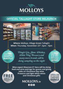 Molloys Tallaght Relaunch 23.11.17