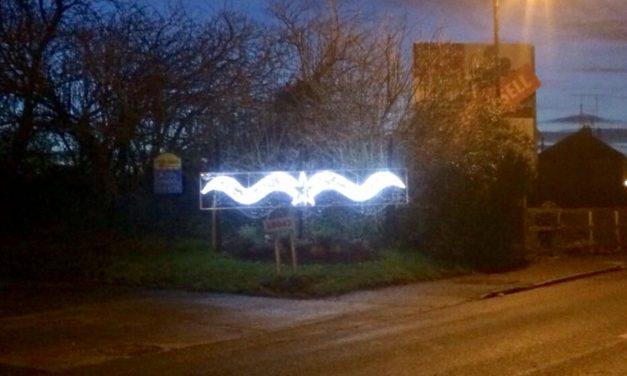 Christmas Sign Stolen Newcastle Village