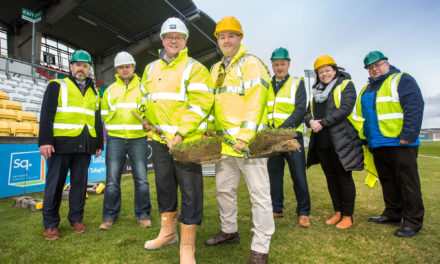 Mayor Gogarty turns sod on South Stand at Tallaght Stadium