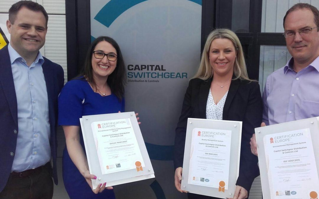 Rathcoole Company Presented with three ISO certificates