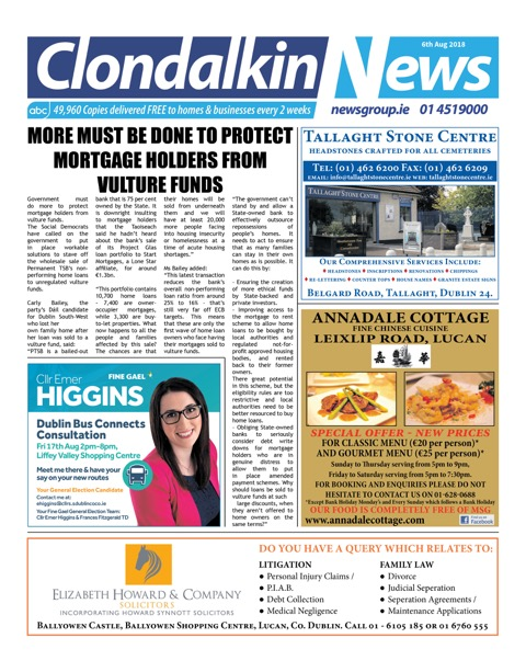 Clondalkin News Front Cover Aug 6th 2018