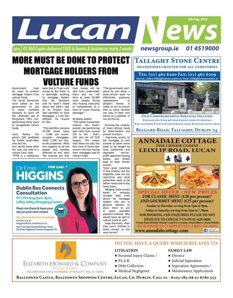 Lucan News Front Cover Aug 6th 2018