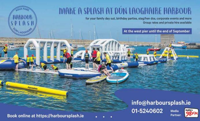 Enjoy Harbour Splash in Dun Laoghaire till the end of September!