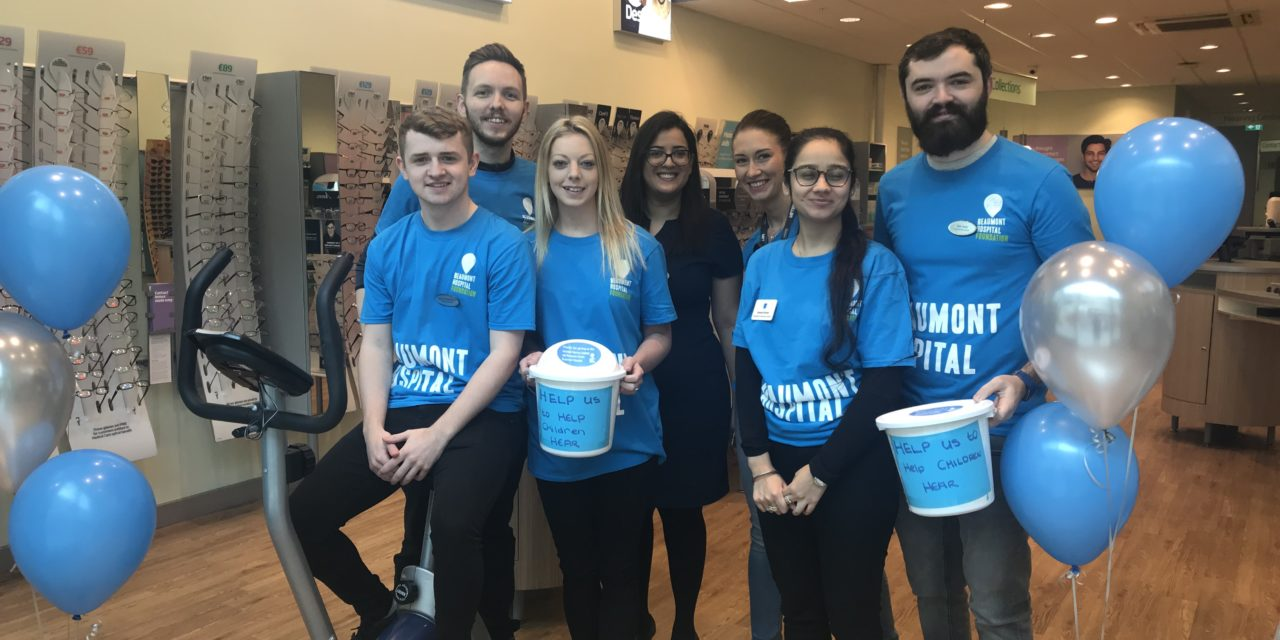 Specsavers Staff Raise €1,000 for Cochlear Implant Department