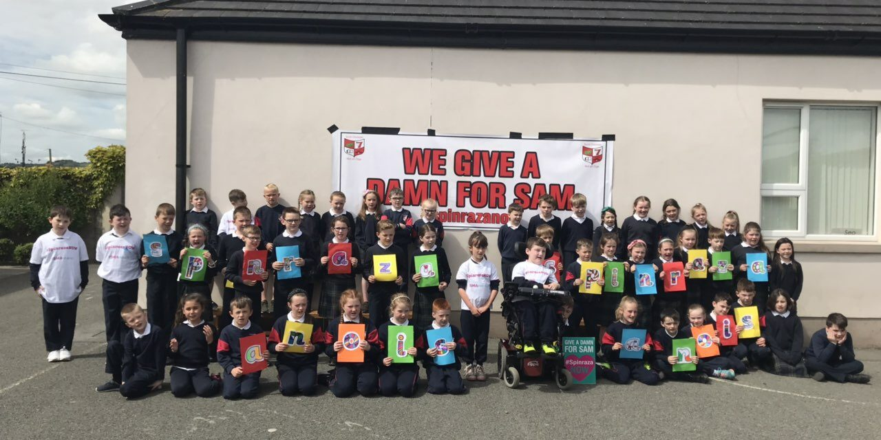 Scoil Chrónáin Shows Support For Sam Bailey
