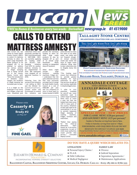 Lucan News Front Cover May 13th 2019