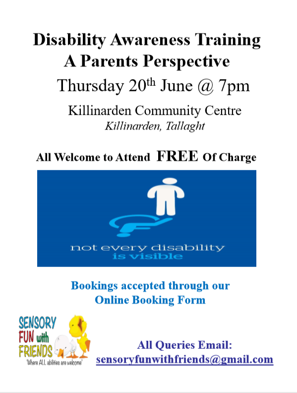 Disability Awareness Talk 20th June Killinarden