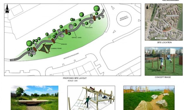 Council Displays Plans for new Play Space at Newcastle