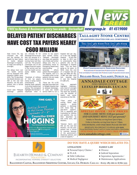 Lucan News Front Cover June 10th 2019