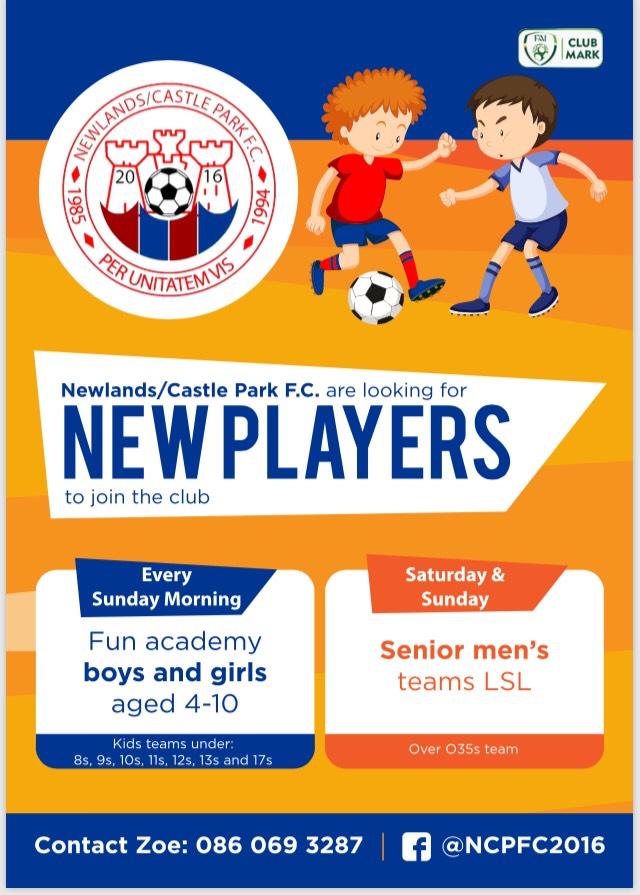 Newlands Castlepark FC players
