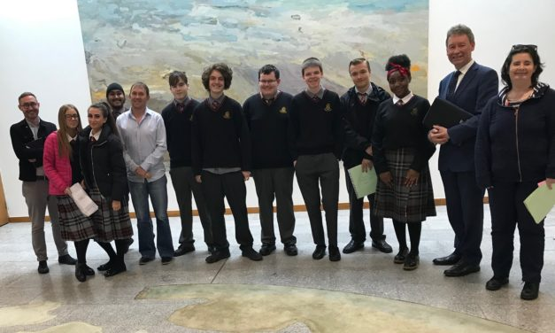 Lucan Community College Students Visit Leinster House