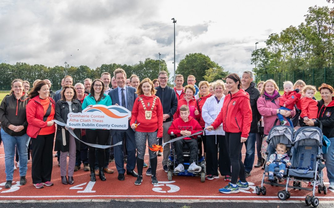 Newly Refurbished Lucan Athletic Track Opens