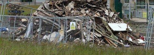 Bonfire Damage in Tallaght Open Spaces