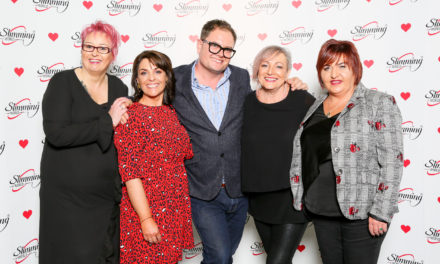 Local Slimming World Consultants celebrate in style with Chatty Man Alan Carr