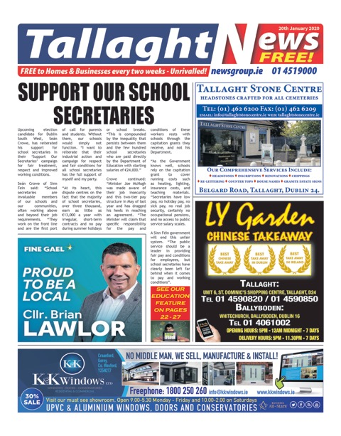 Tallaght News Front Page 10th June 2019