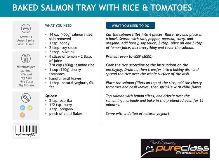 Baked Salmon Pureclass Fitness Clondalkin