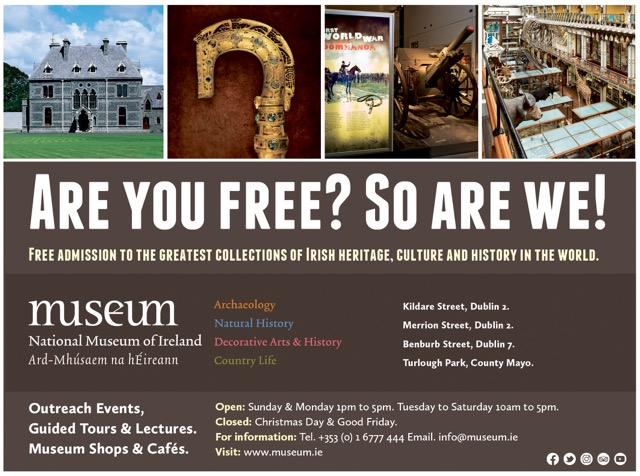 National Museum of Ireland NewsGroup ad