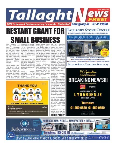 Tallaght News - PDF edition - May 25th 2020