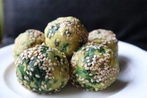Taro Spinach Balls