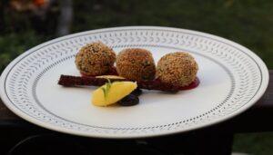 Taro Spinach Sesame Balls