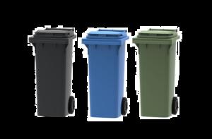 wheelie bins rubbish collection