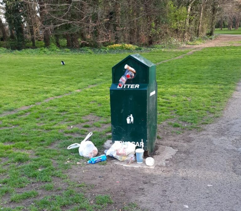 Rubbish Overflowing Parks